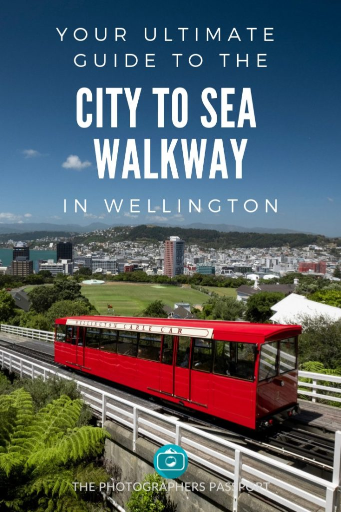 City To Sea Pinterest Pin showing the views that you are treated to at the top of the cable car in Kelburn.