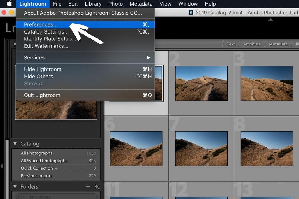A printscreen showing step 1 of Lightroom presets how to install in Lightroom Classic CC