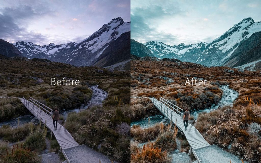 Looking at the difference between an unedited image and an image that has been edited by GrundgeYB which is a Lightroom preset.
