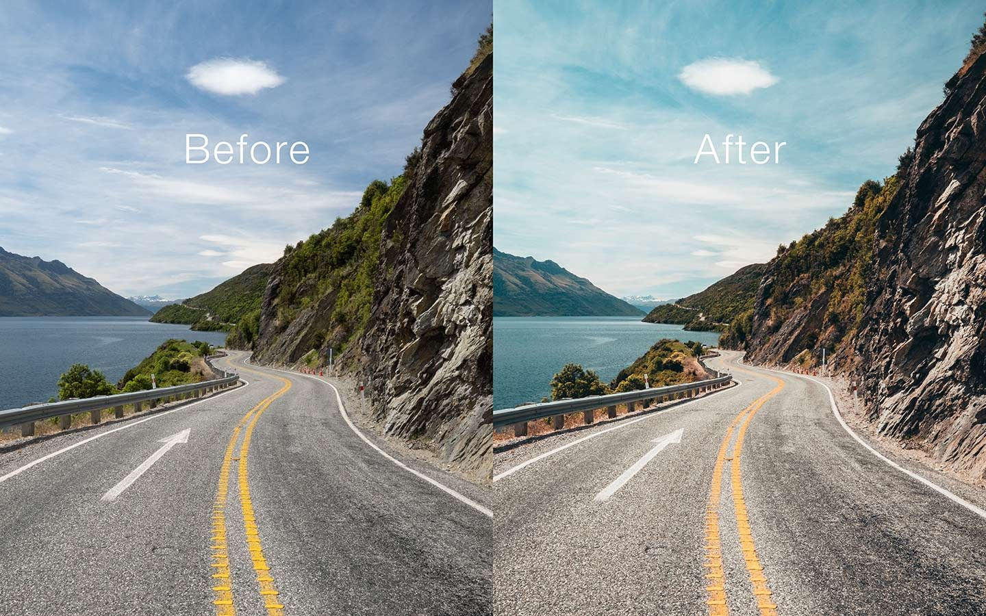 and after of what using a Lightroom mobile preset looks like and what they can do for your photography. The images side by side give a perfect idea of what Lightroom mobile presets can do for your photography. The preset used in this example is called Greece and has been made by Oliver Sjöström who is a Swedish photographer.