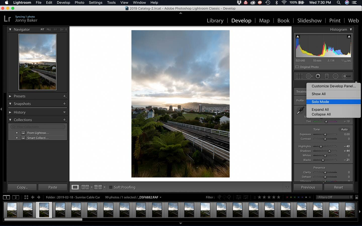 Solo mode is a fantastic Lightroom Hack which is displayed in this screenshot.